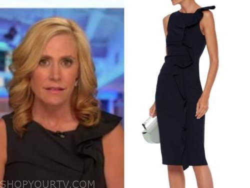 melissa francis, side ruffle jersey dress, outnumbered