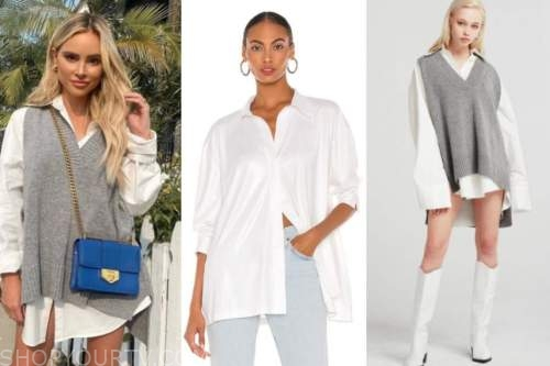 amanda stanton, white shirt, grey sweater vest, the bachelor