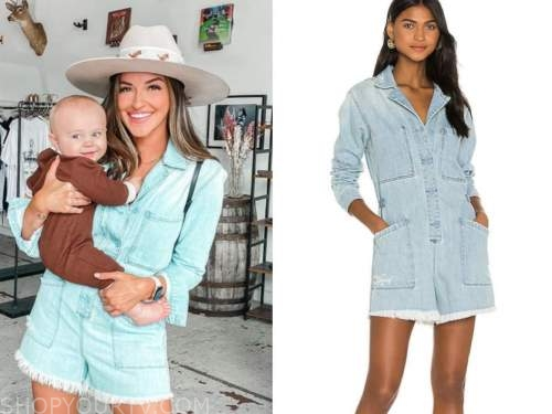 tia booth, denim romper, the bachelor