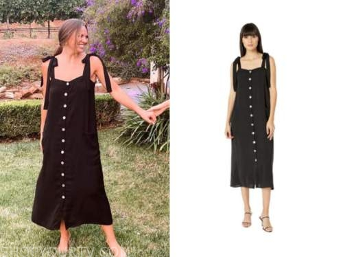 hannah brown, the bachelor, black button down dress