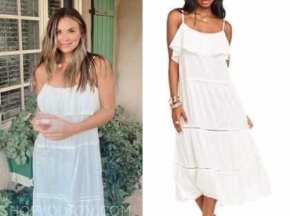 hannah brown, the bachelor, white midi dress