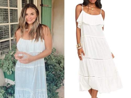 hannah brown, the bachelor, white midi dress