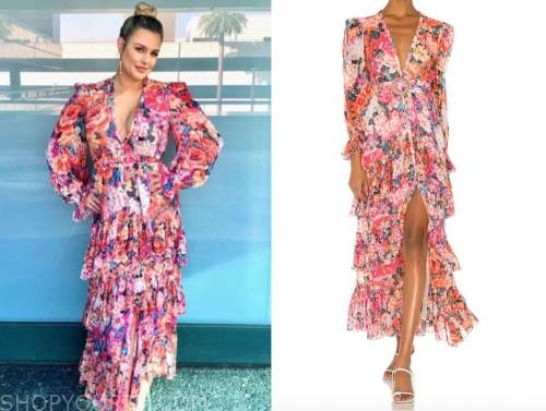 carissa culiner, E! news, pink and orange floral maxi dress