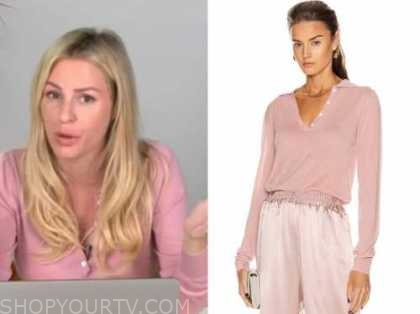 morgan stewart, pink knit polo sweater, E! news, Daily pop