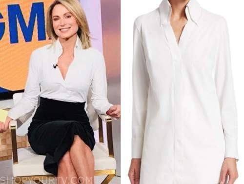 amy robach, good morning america, white shirt