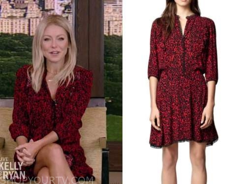 kelly ripa, live with kelly and ryan, red leopard dress