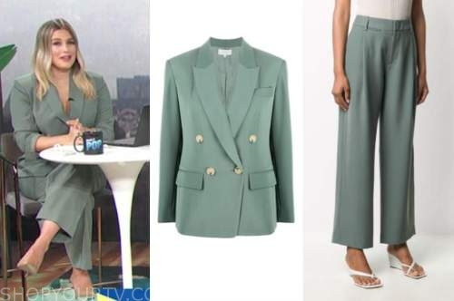 carissa culiner, green pant suit, e! news, daily pop