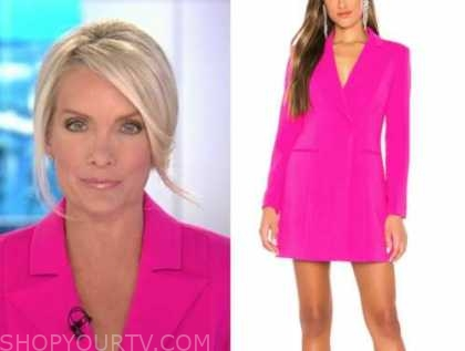 dana perino, the daily briefing, hot pink blazer dress