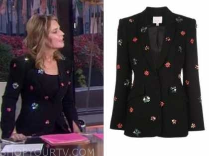 savannah guthrie, the today show, black embellished blazer