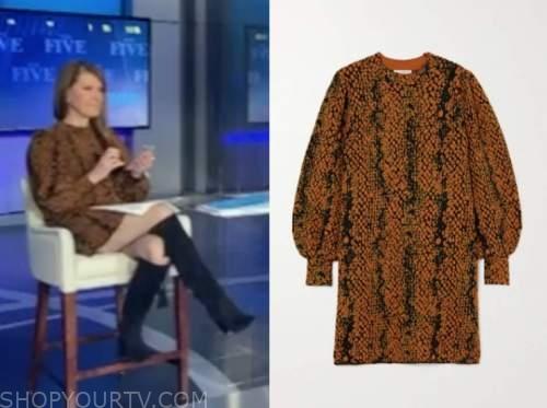 dagen mcdowell, brown snakeskin dress, the five