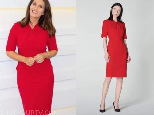good morning britain, susanna reid, red dress
