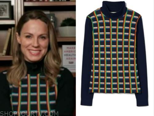 dr. nicole saphier, grid turtleneck sweater, fox and friends