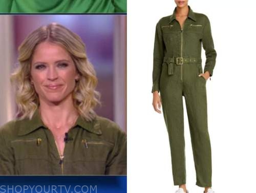 sara haines, green zipper jumpsuit, the view