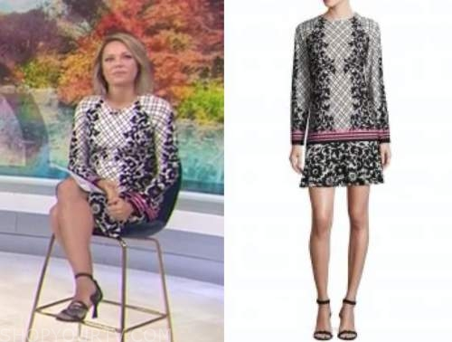 dylan dreyer, the today show, floral shift dress