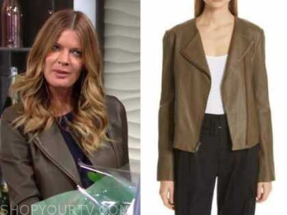 michelle stafford, the young and the restless, phyllis newman, leather jacket