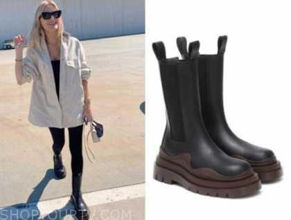morgan stewart, black and brown boots,