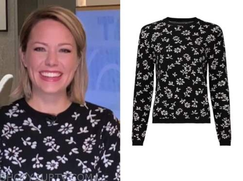 dylan dreyer, the today show, black and white floral sweater