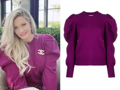 janelle pierzina, purple puff sleeve sweater, instagram fashion, big brother all stars