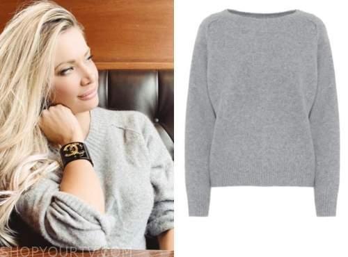 janelle pierzina, grey cashmere sweater, instagram