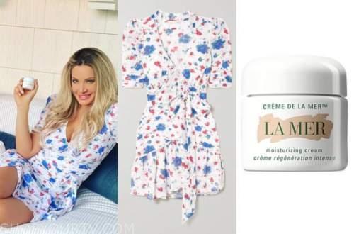 janelle pierzina, floral dress, moisturizing cream, instagram