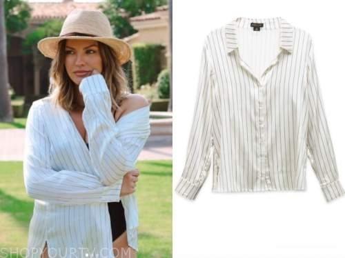 becca tilley, striped shirt, the bachelor