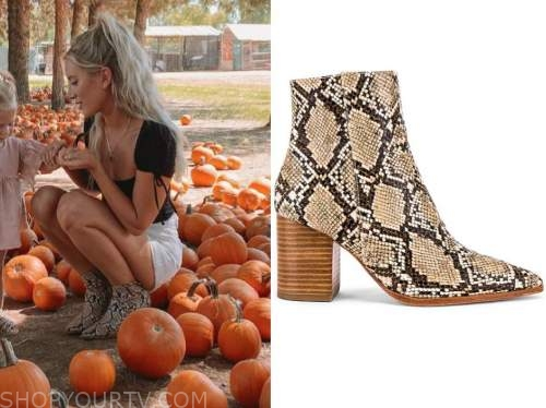 lauren burnham, the bachelor, snakeskin booties