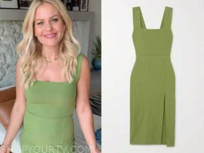 candace cameron bure, green dress, instagram, fashion