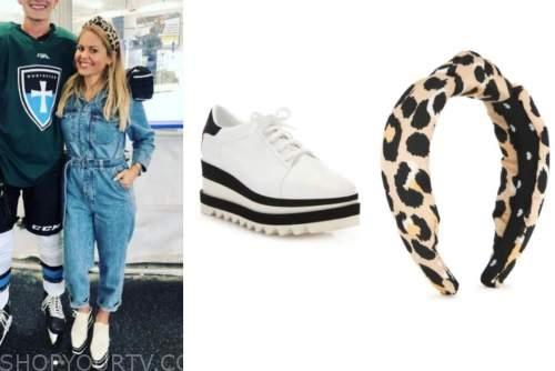 candace cameron bure, fashion, platform sneakers, leopard headband