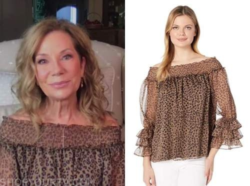 kathie lee gifford, the today show, leopard off-the-shoulder top