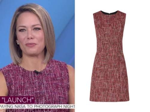 dylan dreyer, the today show, red tweed sheath dress