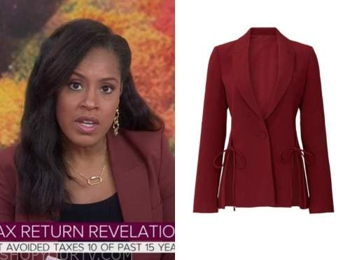 sheinelle jones, the today show, red blazer