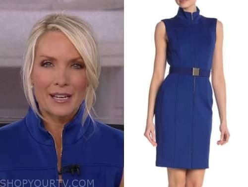 dana perino, blue zip-front dress, the five