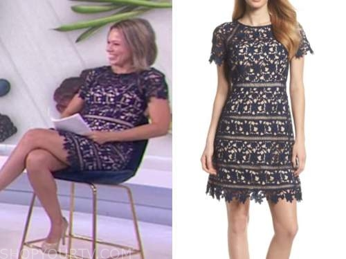 the today show, dylan dreyer, navy blue lace dress