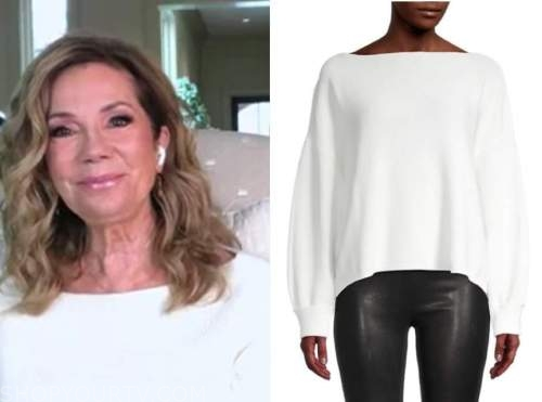 kathie lee gifford, E! news, daily pop, white boatneck sweater