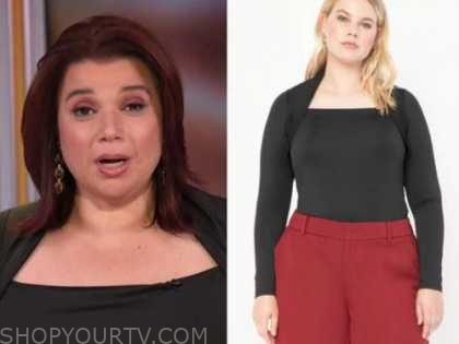 ana navarro, the view, black square neck top