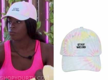 justine, tie dye baseball cap, love island usa