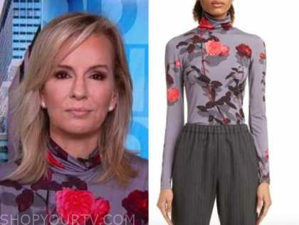 dr. jennifer ashton, good morning america, floral turtleneck top