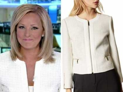 america's newsroom, sandra smith, ivory textured jacket