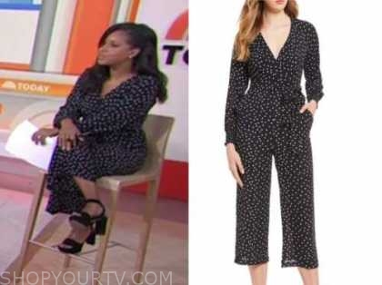 sheinelle jones, the today show, polka dot jumpsuit