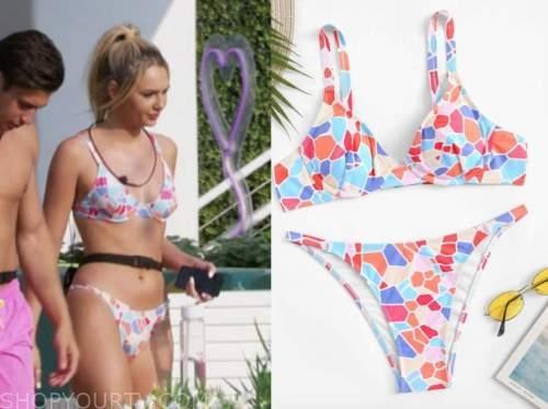 laurel, love island usa, geometric bikini