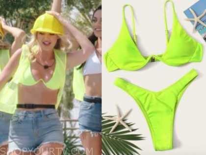 laurel, lime neon bikini, love island usa