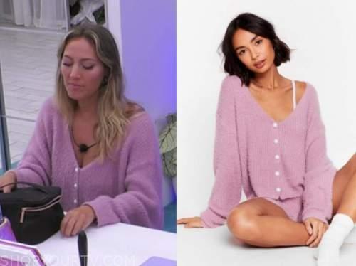 moira, lilac purple cardigan, love island usa