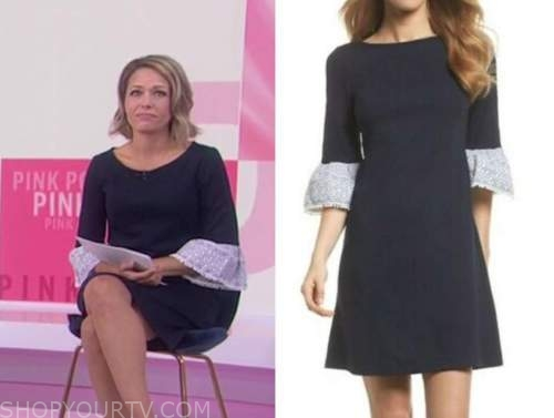 dylan dreyer, the today show, navy blue bell sleeve dress