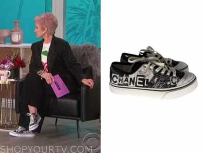 sharon osbourne, black sneakers, the talk
