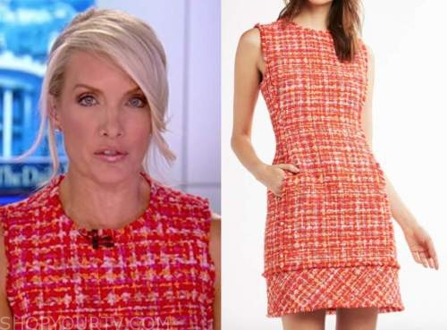 dana perino, the daily briefing, the five, red tweed shift dress