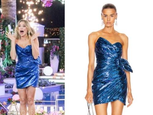 arielle vandenberg, love island usa, blue sequin belted mini dress, finale