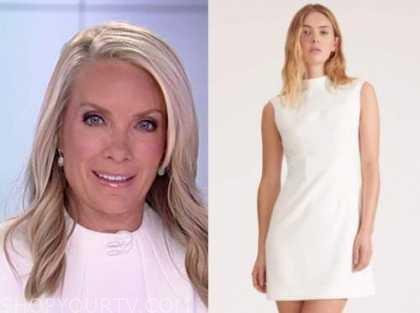 dana perino, the daily briefing, the five, white sleeveless dress