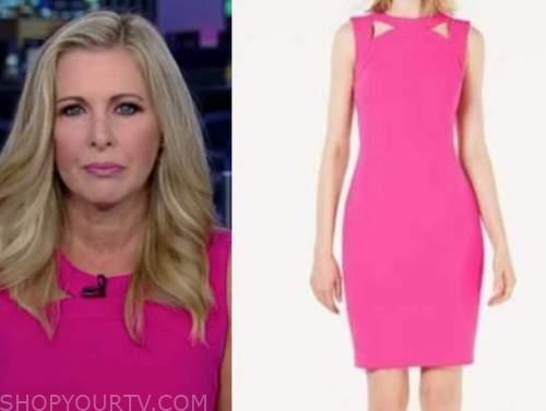 cheryl casone, fox and friends, hot pink cutout sheath dress