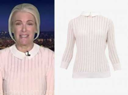 janice dean, fox news at night, pink collar sweater