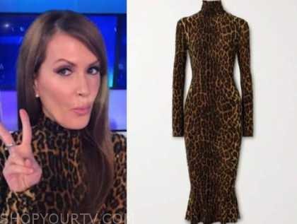 dagen mcdowell, leopard turtleneck dress, the five